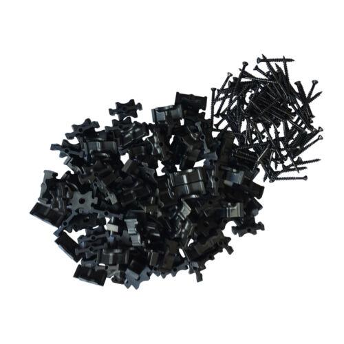 1000 x Hidden Fastening Fastener Fixing T Clip Trex Compatible Composite Decking