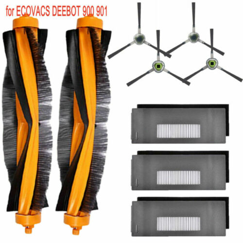 Side Filter/&Brush for ECOVACS DEEBOT 900 901 Robotic Vacuum Cleaner Parts Sets