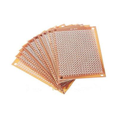 10pcs PCB fr4 Universal Boards Prototyping Circuit Prototype Paper PCB Kit 5x7cm