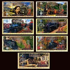 POLYMER SET El Club De La Moneda 1;2;5;10;15;20;50 2017> Coffee Railroad, Trains