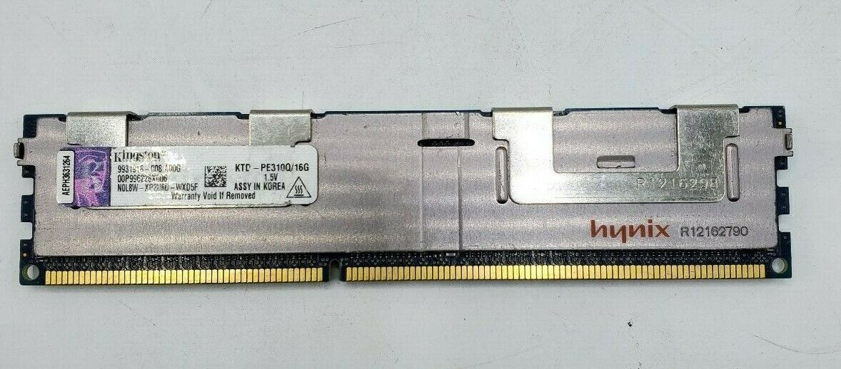 KINGSTON KTH-PL310Q//16G 16GB STICK DDR3 PC3-8500 1066MHz ECC REG SERVER MEMORY