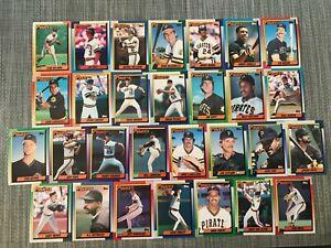 1990-PITTSBURGH-PIRATES-Topps-COMPLETE-Baseball-Team-Set-29-Cards-BONDS-BONILLA
