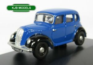 BNIB-OO-GAUGE-OXFORD-DIECAST-1-76-76MES001-Blue-Morris-Eight-E-Saloon-Car