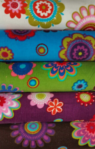 velours milleraies fleurs au mètre 145cm de large Velours côtelé 5 couleurs