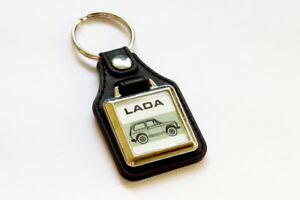 Lada-Niva-Cossack-4x4-Keyring-VAZ-2121-Leatherette-Retro-Classic-Auto-Keytag