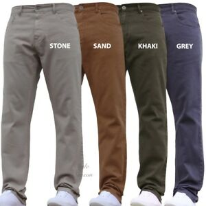 NEW-MENS-STRAIGHT-LEG-JEANS-VARIOUS-COLOURS-CASUAL-WEAR-WORK-TROUSERS-SMART