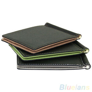 ITS-ALS-Cool-Ultra-Thin-Simple-Money-Clip-Faux-Leather-Card-Holder-Bifold-Mini