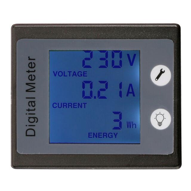 AC 260V 100A Digital Voltage Power Energy Meter Ammeter Voltmeter w/ Transformer