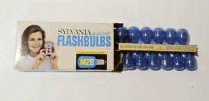 Vintage Sylvania M2B Blue Dot Flash Bulbs With Original Box