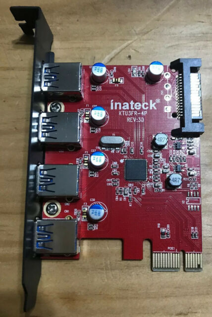 NEW Inateck 4 Ports 3.0 PCI-E to Interface USB 3.0 Expansion Card for Mac Pro