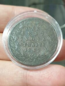 1862-Straits-Settlements-One-Cent-Queen-Victoria