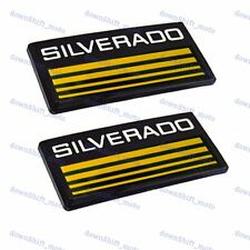 X2 Cab Emblems 3d Badge Side Roof Pillar Decal Plate For Chevy Silverado Yellow