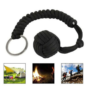 Outdoor-Monkey-Fist-Paracord-Steel-Ball-Self-Defence-Lanyard-Emergency-Gear-Tool