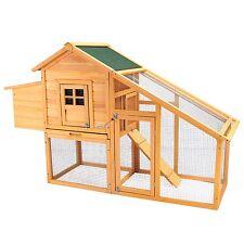 "75"" Wooden Coop Rabbit Hutch Poultry Cage Chicken Hen House Backyard w/Nest Box"