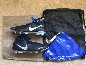 Nike-Phantom-VSN-Vision-Elite-DF-FG-Soccer-Cleats-Black-Blue-AO3262-004-Size-7-5