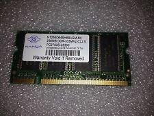 Memoria SoDimm DDR Nanya NT256D64SH8BAGM-6K 256MB PC2700 333MHz CL2.5 200 Pin