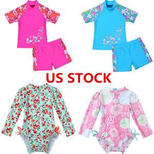 Kid-Baby-Boy-Girl-Swimsuit-Swimwear-Bathing-Beach-Rash-Guard-Surfing-Suit-UPF50