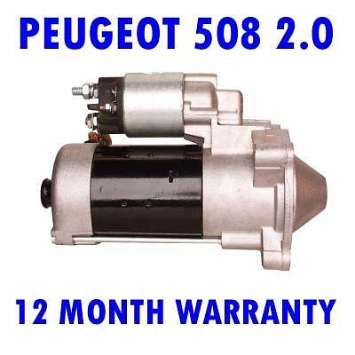 Peugeot 508 2.0 2010 2011 2012 2013 2014 saloon estate starter motor