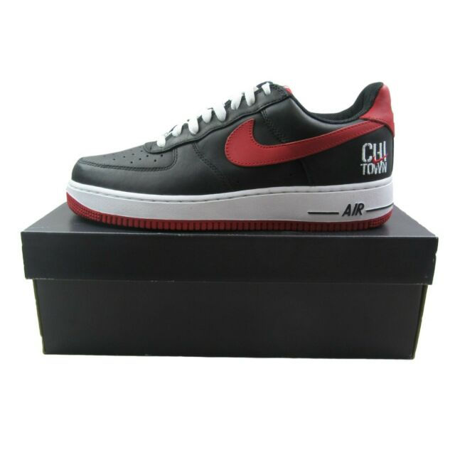 22ded203 Nike Air Force 1 Low Retro Chi Town Chicago Black Varsity Red 845053-001  Size 9 for sale online | eBay