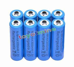 8x-AA-3000mAh-2A-1-2-V-Ni-MH-Blue-Rechargeable-Battery-Cell-for-MP3-RC-Toys