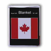 Canada Flag Fleece Throw Blanket 50 X 60 - Lower Price