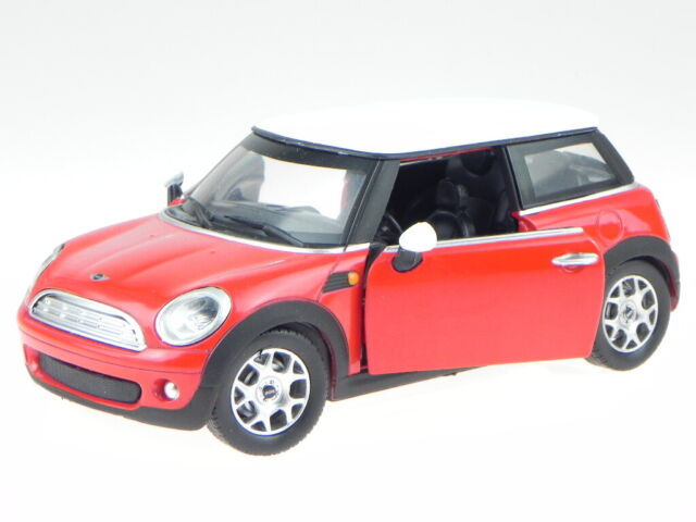 2008 Mini Cooper 1:24 Scale Diecast Collectible,By New Ray Toy City Cruiser,Red