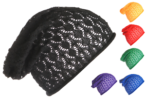 Image is loading BREATHABLE-100-Cotton-Summer-Slouchy-Beanie-Light-Weight- 86cda2ddefc