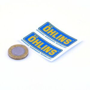 Ohlins-Stickers-Motorbike-Motorcycle-Racing-Decals-Vinyl-50mm-x2