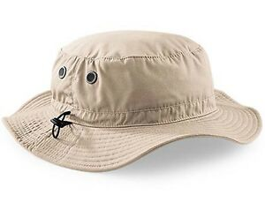 9f679326 Details about Mans Mens Sun Shade Summer Wide Brim Bucket Cargo Floppy Hat  Stone Beige UPF50+