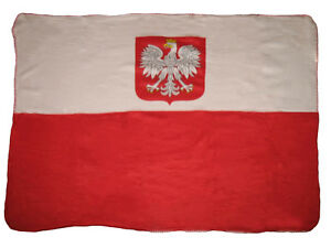 Poland-Polska-Polish-Eagle-Flag-50x60-Polar-Fleece-Blanket-Throw-Super-Soft