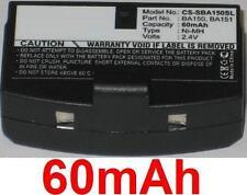 Batterie 60mAh type BA150 BA151 Pour Sennheiser TI 810