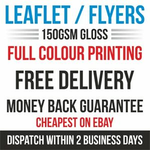A4 New Updated Cheap Full Colour Leaflets Printing A6,A5 A3 150gsm
