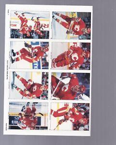 1990-91-Panini-Team-sticker-Calgary-Flames-still-attached