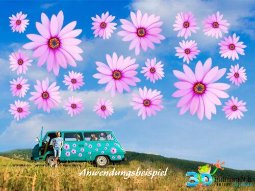 fleurs autocollants décalque flower violet fleur 21 x fleurs des autocollants Set XL
