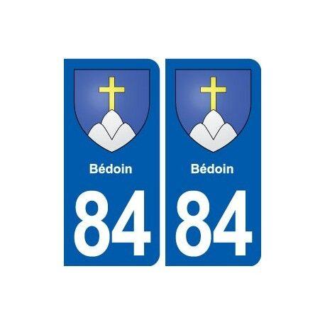 84 Bédoin blason autocollant plaque stickers ville droits