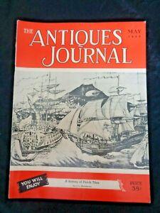 Antiques-Journal-1952-Sam-Rouse-Wrought-Iron-Lace-Work-Dutch-Tiles-Wax-Miniature