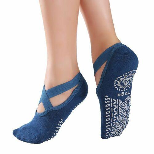 Ideal for Pilates Yoga Socks for Women Non-Slip Grips/&Straps Barefoot Workout