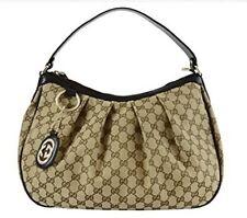 Gucci Sukey Hobo Gucci Monogramma TELA DI COLORE MARRONE BEIGE HANDBAG-RRP700