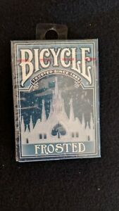 Frosted-Bicycle-Playing-Cards-Poker-Size-Deck-Custom-Limited-Edition-New-Sealed