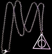 """Harry Potter Necklace 24""""chain Deathly Hallows Symbol Charm Pendant Love *UK**"""