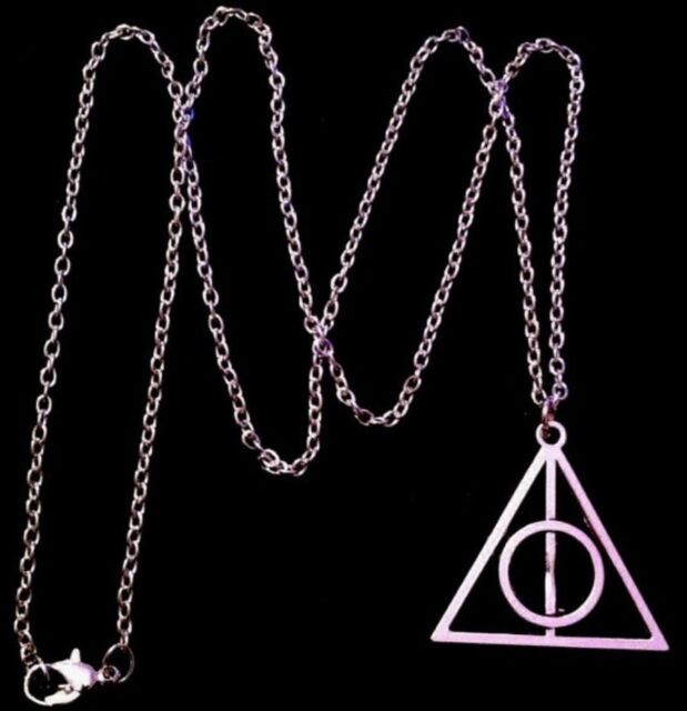 Harry Potter Necklace 24chain Deathly Hallows Symbol Charm Pendant