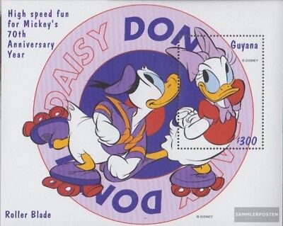 Devoted Guyana Block587 complète Edition Neuf Avec Gomme Originale 1999 Walt Disney Fi Unequal In Performance