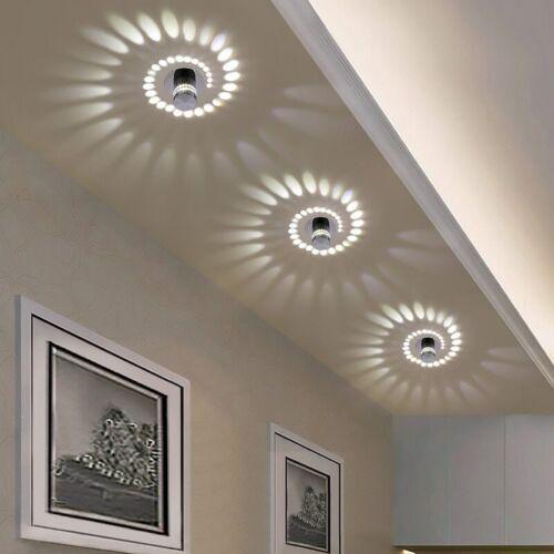 Luz de techo LED moderna 3W RGB pared Sconce para decoración de galería de arte