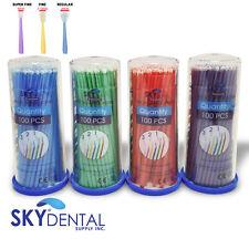 Microbrush Applicator Tips Dental Micro Brush Regular Fine Super Fine 400pk