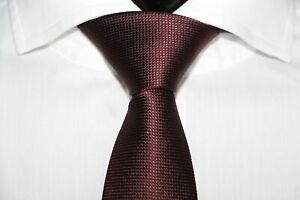 HUGO-BOSS-TAILORED-KRAWATTE-100-Seide-Hand-Made-in-Italy-Dark-Red