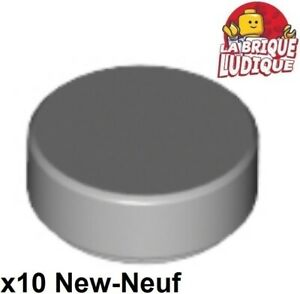 10 x lego 98138 Plate round round Flat 1x1 Tile New New Grey Grey Gray