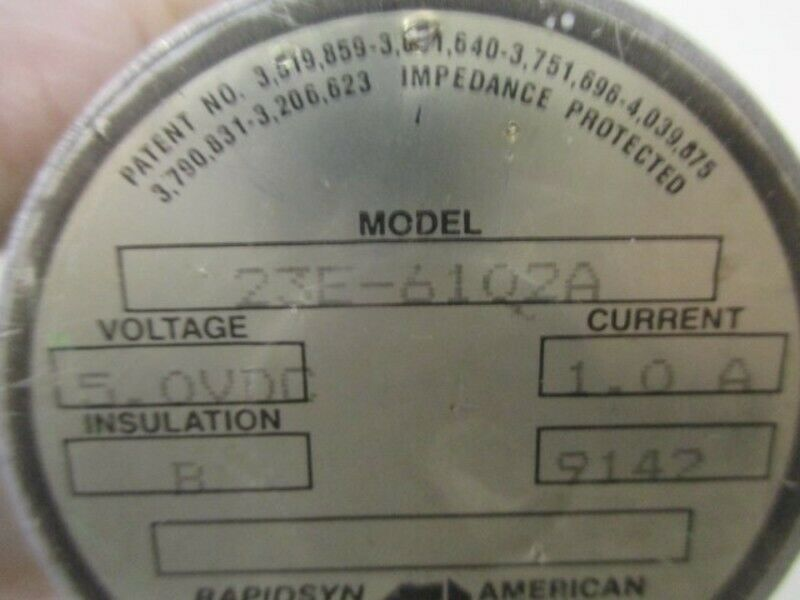RAPIDSYN 23E-6102A STEPPER MOTOR 5 VDC  USED