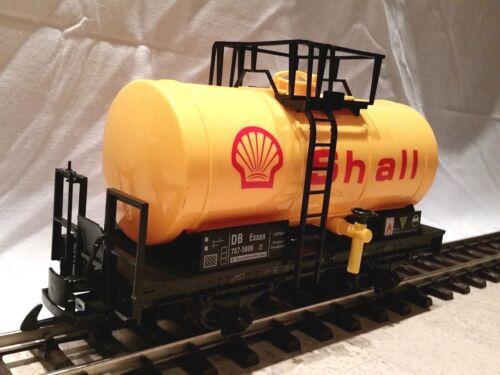 optional mit Edelstahlrädern Train neu Spur G Tankwagen modifiziert gelb