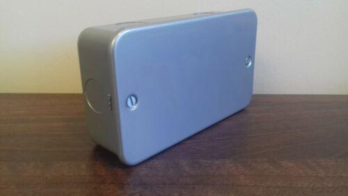 Metal Clad 2 Gang Double surface métallique vide Plaque /& Back Box