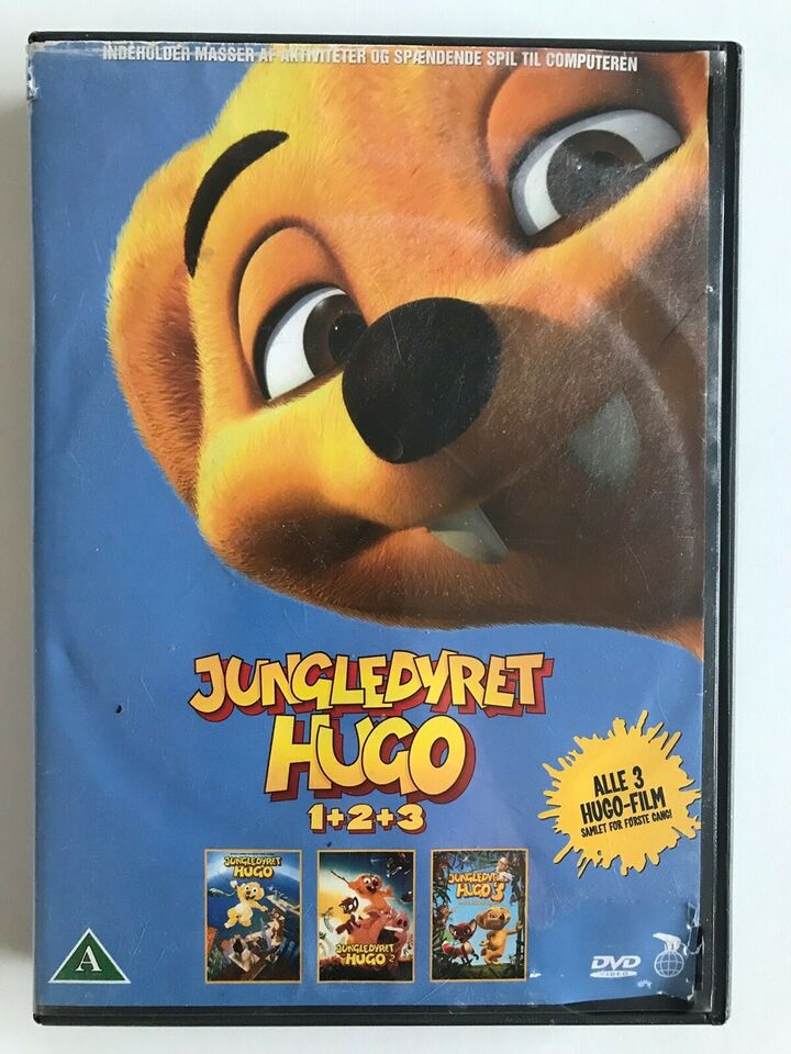 Jungledyret Hugo 1+2+3, DVD, tegnefilm